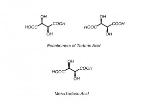 Meso compounds tartaric acid